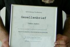 Gesellenbrief Tobias Anders